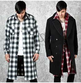 Classic Checkered Pattern Soft Cotton Long Shirts 152