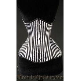 Striped Extreme Waist Corset