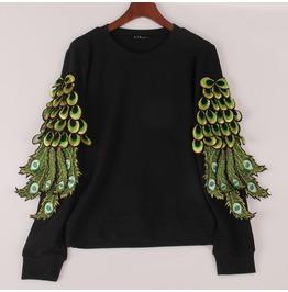 Peacock Sweatshirt / Sudadera Pavo Real Wh316