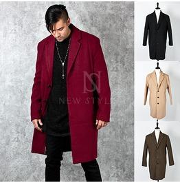 Sophisticate Wool Basic Long Coat 111