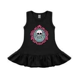 Cameo Skull Black & Pink Sleeveless Baby & Toddler Dress