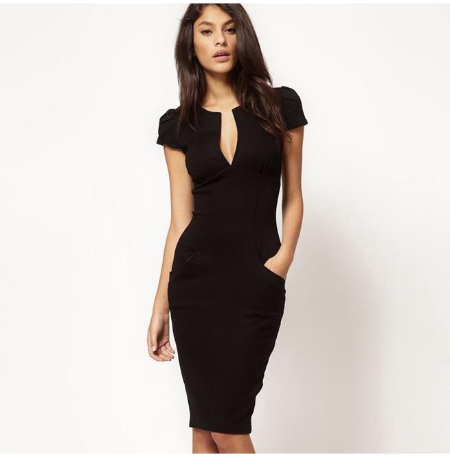 rebelsmarket_black_ponti_dress_with_pockets_size_small_uk_6_8_dresses_2.jpg