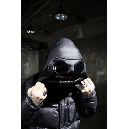 Goggle Hoodie Puffer Jacket