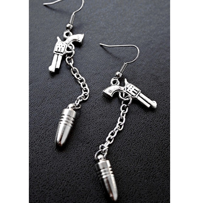 rebelsmarket_one_shot_silver_pistol_guns_and_bullets_chain_dangle_earrings_earrings_3.jpg