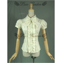 Lg 0049 Ivory Short Sleeves Sweet Lolita Blouse