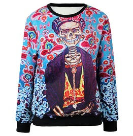 Funny Kuso 3 D Skull Print Casual Sweatshirts