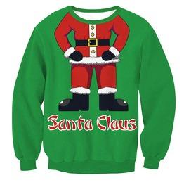 Christmas Gift Santa Claus Funny Print Women Sweatshirts
