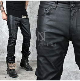 Basic Coated Black Slim Jeans 246
