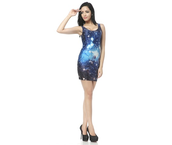 Blue Space Milky Way Bodycon Dress Tank Tops_Dresses_6.jpg