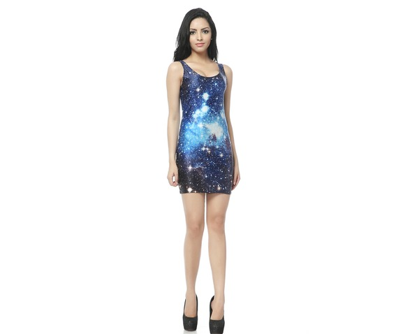Blue Space Milky Way Bodycon Dress Tank Tops_Dresses_5.jpg