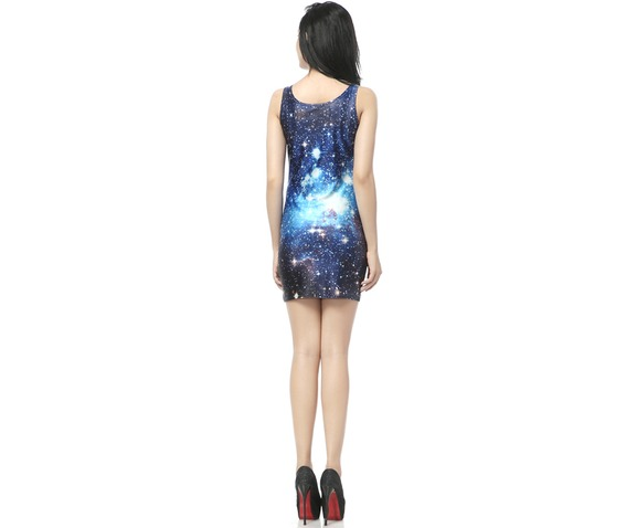 Blue Space Milky Way Bodycon Dress Tank Tops_Dresses_2.jpg