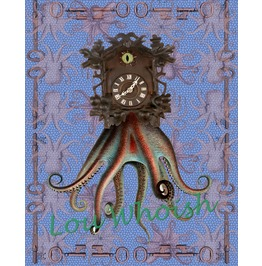 Steampunk Octopus Mixed Media