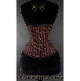 Steampunk Striped Corset