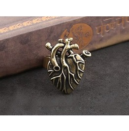 Fashion Punk Gecko Style Bare Heart Ring