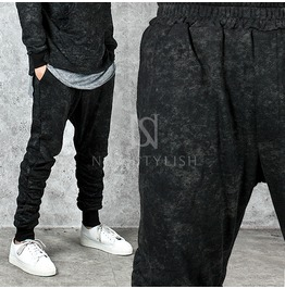 Unique Printing Pre Wrinkled Sweatpants 222