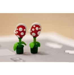 Super Mario Man Eater Fimo Earrings
