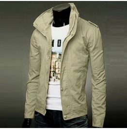 Military Zippper + Button Casual Jacket