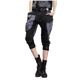 Womens Cropped Loose Fit Pant