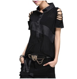 Punk Summer Shirt Stripey Sleeves