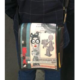 Eskimo, Lala Print, Benga Rabbit, Brown Vegan Leather Messenger Bag