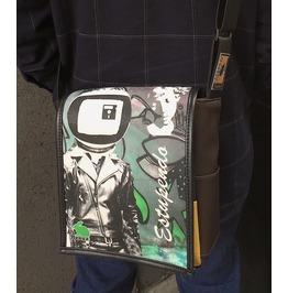 Eskimo, Estupendo Print, Benga Rabbit, Brown Vegan Leather Messenger Bag