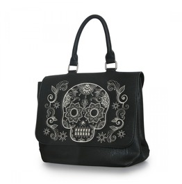 Skull Skeleton Punk Goth Rock Messenger Bag Crossbody