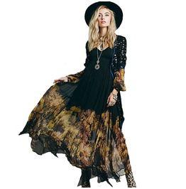 Bohemian Floral Chiffon Maxi Dress