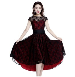 Red Black Lace Party Gothic Rockabilly 50s Dress Reg& Plus Sizes $9 To Ship
