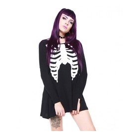 Iron Fist Clothing Black Wishbone Trapeze Dress