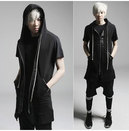 2016 New Arrival Black Style Men Casual Vests