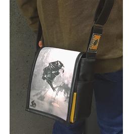 Mini, Silver Print, Benga Rabbit, Black Vegan Leather, Messenger Bag