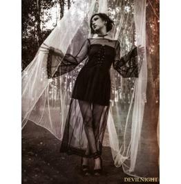 Black Gothic Two Piece Gothic Dress