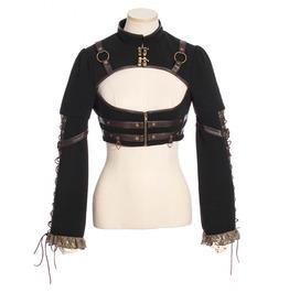 Women's Retro Steampunk Lace Up Sleeve Short Jacket 184