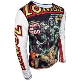 Buy Online Men's Walking Dead Zombie Longsleeve Sweatshirt T Shirt New 2017