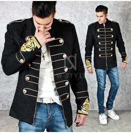Wrist Gold Wappen Patch Accent Black Napoleon Jacket 238