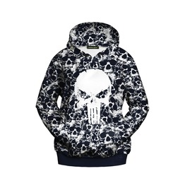 Punk Style Skull Printed Hoodies