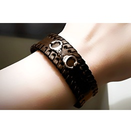 Bdsm Jewelry Mens Leather Cuff Bracelet Dominant Gift Handcuffs For Him Man