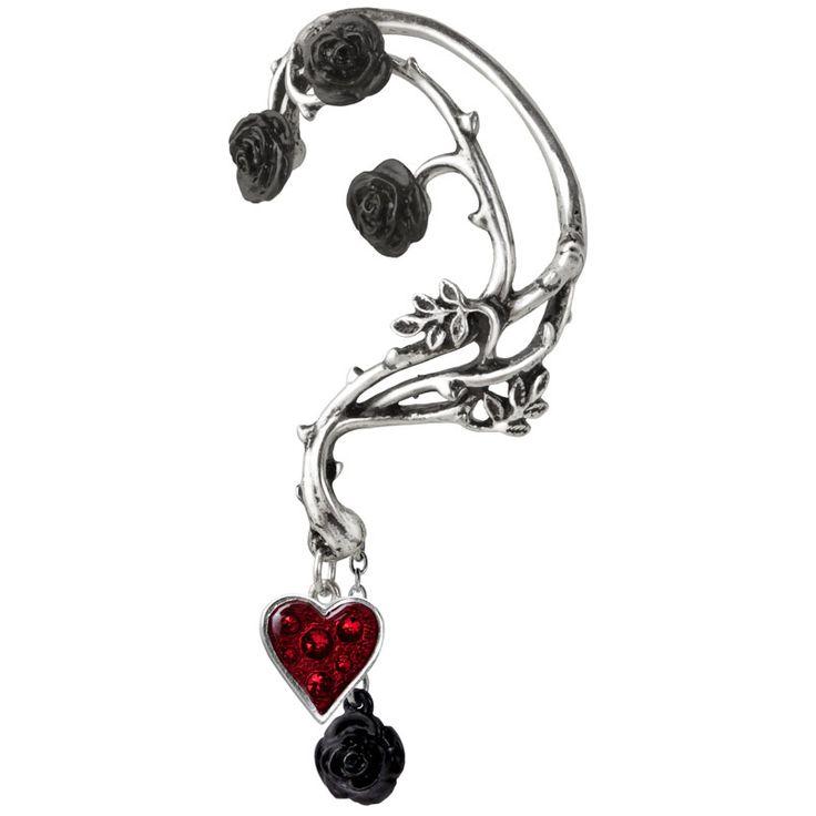 rebelsmarket_bed_blood_roses_gothic_ear_wrap_alchemy_gothic_earrings_2.jpg
