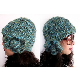 New Lady Blue Turquoise Slouchy Beanie Winter Knit Hat Free Size