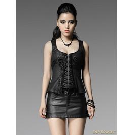 Y 457 Gothic Punk Dark Zebra Stripe Sexy Vest For Women