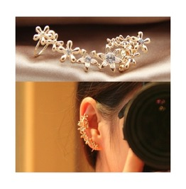 Fashion Flower Screw U Ear Clip