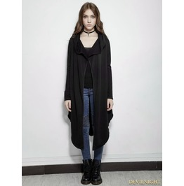 Y 615 Dark Gothic Irregular Fleece Jacket For Women