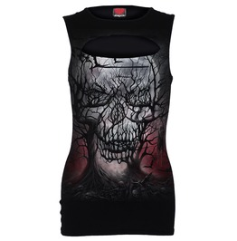 Dark Roots Laser Cut Sleeveless Vest Top/Tattoo/Skull/Gothic/Top