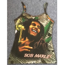Reggae Bob Marley Hippie Religion All Over Print Tattoo Top Shirt S No.53