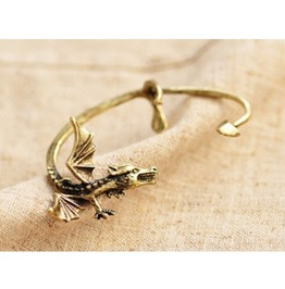 Gothic Vintage Dragon Single Ear Cuff