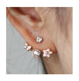 Girly Lovely Flower Stud Earrings