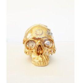 Steampunk Gold Skull,