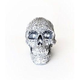 Silver Tribal Skull