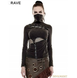 T 432 Br Steampunk Mask Style T Shirt For Women