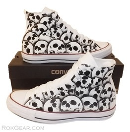 Converse Skull Shoes Unique Hand Painted Skulls Mens Size Us 9